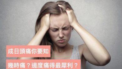 Photo of 成日頭痛?不同時間發作及頭痛的部位揭示各種健康問題 一招教紓緩